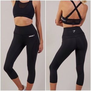 Gymshark Fusion High Waist Cropped Legging Size S